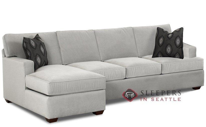 Customize And Personalize Lincoln Chaise Sectional Fabric Sofa With Queen Convertible Sofas (Image 5 of 20)