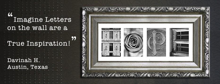 Customized Name Art | Alphabet Photography Art | Lettter Intended For Last Name Framed Wall Art (Image 7 of 20)