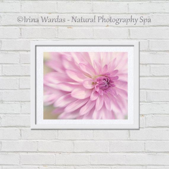 Dahlia Wall Art | Pink Flower | Floral Artwork | Bedroom Wall Art With Pink Flower Wall Art (View 11 of 20)