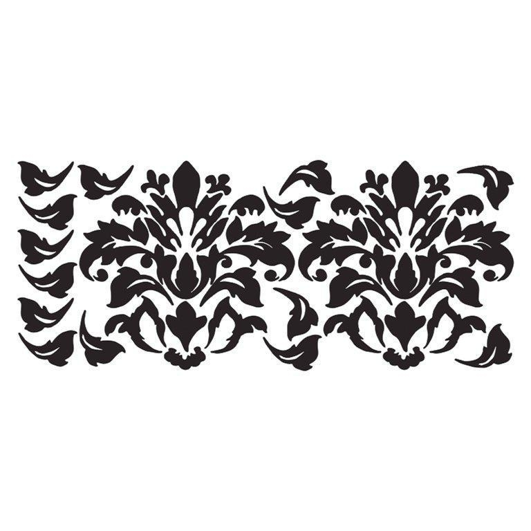 Damask Wall Decals Art Decor Ideas Regarding Black And White Damask Wall Art (View 16 of 20)
