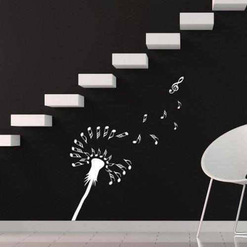 Dandelion Of Music, Notes, Treble, Decal, Sticker, Wall, Home Inside Music Note Wall Art (Image 7 of 20)