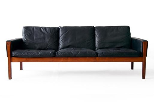Danish Mid Century Modern Vintage Sofas, Leather, Teak, Rosewood Throughout Danish Leather Sofas (Image 10 of 20)