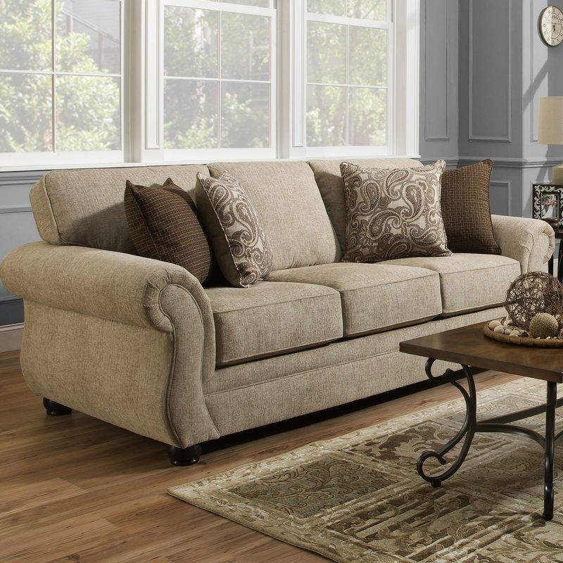 Darby Home Co Simmons Vicki Parchment Queen Sleeper Sofa & Reviews Within Simmons Sleeper Sofas (Image 8 of 20)