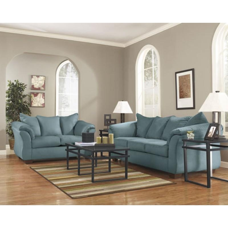 Darcy Sky Living Room – Living Room Packages – Living Room In Sky Blue Sofas (Image 10 of 20)
