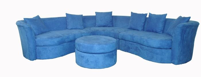 Dark Blue Sofas And Ravenna Contemporary Blue Microfiber 4 Pc Intended For Blue Microfiber Sofas (Image 8 of 20)