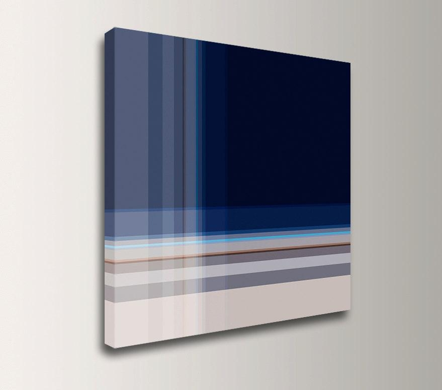 Dark Blue Wall Art Square Canvas Print Modern Wall Decor Throughout Dark Blue Wall Art (View 3 of 20)