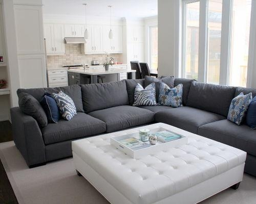 Dark Gray Sectional Sofa | Houzz With Charcoal Gray Sectional Sofas (Image 9 of 20)