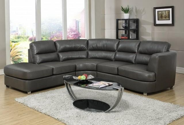 Dark Grey Leather Sofa | Home Design Ideas Inside Charcoal Grey Leather Sofas (View 15 of 20)