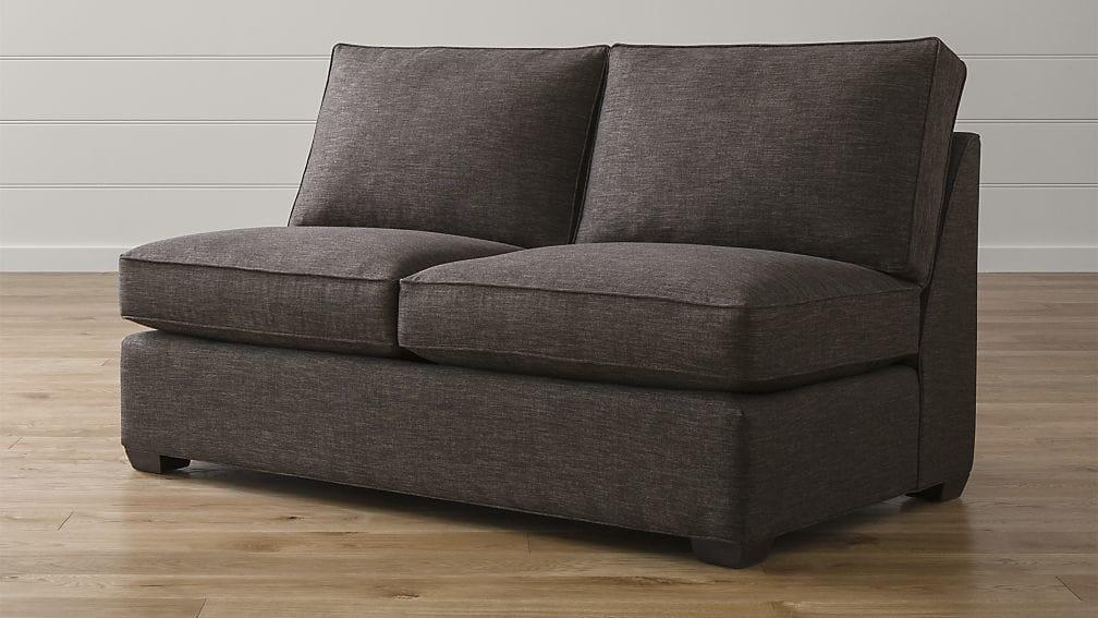 Davis Armless Full Sleeper Sofa With Air Mattress | Crate And Barrel In Davis Sleeper Sofas (Image 7 of 20)