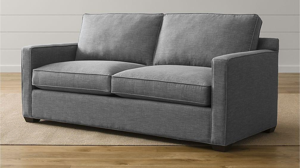 Davis Queen Sleeper Sofa | Crate And Barrel Throughout Davis Sleeper Sofas (Image 12 of 20)