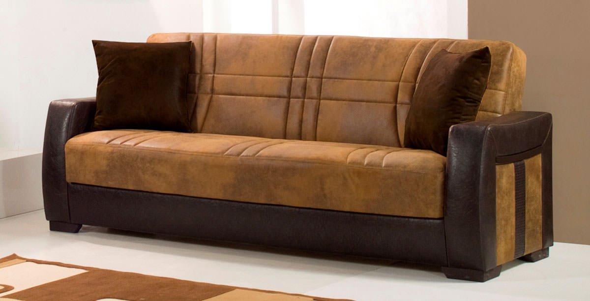 Deborah Ares Suede Rusty Micro Suede Sofa Bedkilim Inside Microsuede Sofa Beds (Image 6 of 20)