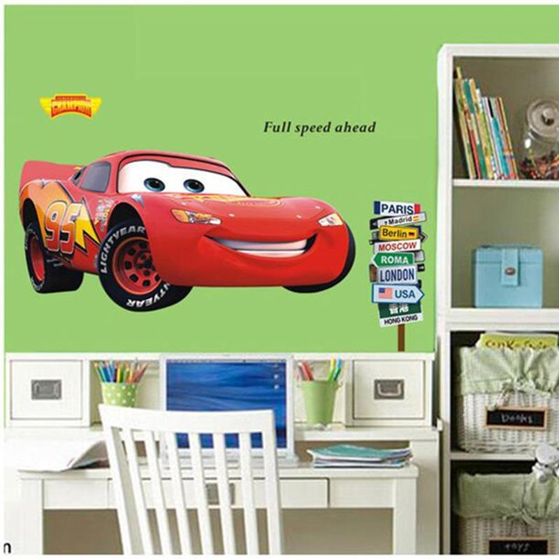 Decal Machine Picture – More Detailed Picture About Vinyl Cartoon Intended For Lightning Mcqueen Wall Art (View 13 of 20)