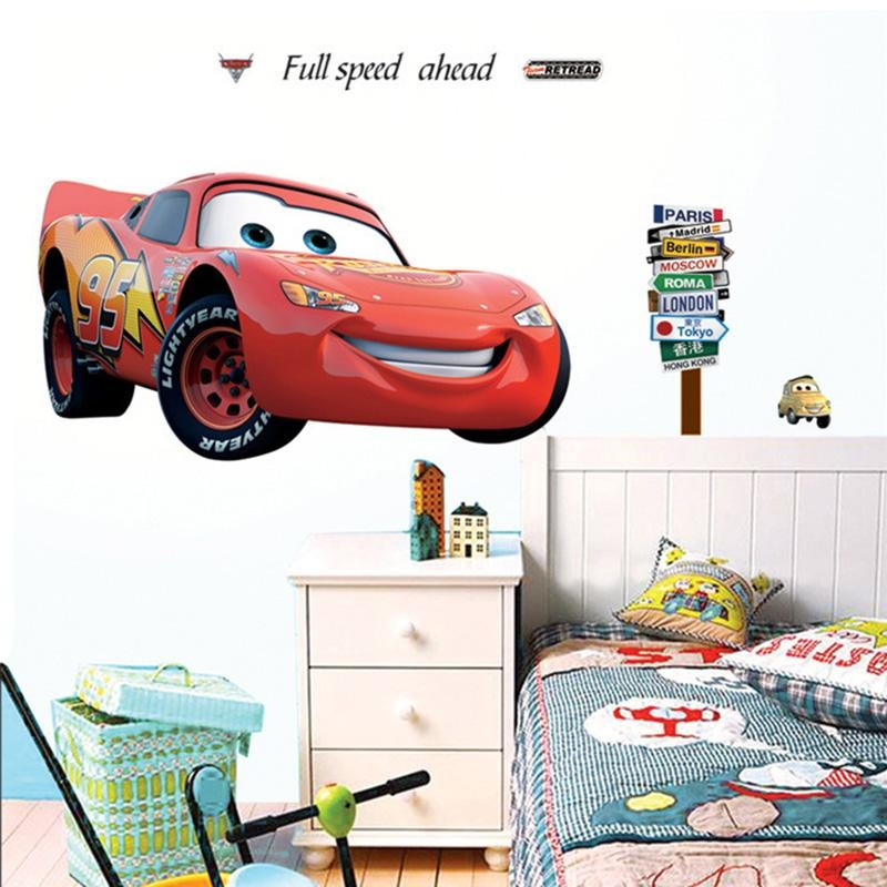 Decal Machine Picture – More Detailed Picture About Vinyl Cartoon With Lightning Mcqueen Wall Art (Image 9 of 20)