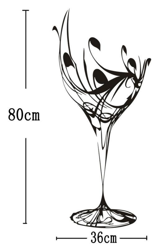 Decal Wall Picture – More Detailed Picture About Free Shipping Regarding Martini Glass Wall Art (Image 8 of 20)
