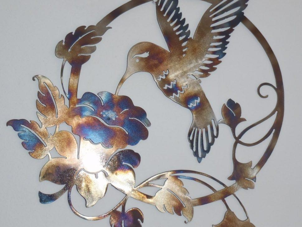 Decor : 49 Metal Art Decor Ceesquare Nice Hummingbird And Flower Intended For Walmart Metal Wall Art (View 7 of 20)