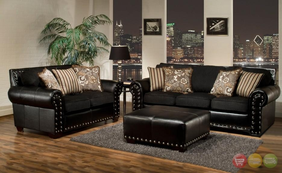 Decor Black Couch. Living Room Decor With Black Leather Sofa (Image 7 of 20)