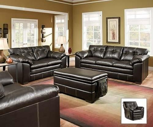 Decor Of Simmons Bonded Leather Sofa With Chairs Leather And With Regard To Simmons Leather Sofas And Loveseats (View 11 of 20)