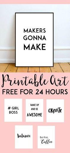 Decorate | Printable Wall Art, Free Printable And Walls Pertaining To Cubicle Wall Art (Image 11 of 20)