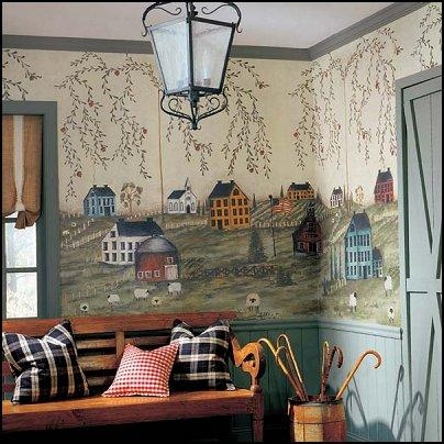 Decorating Theme Bedrooms – Maries Manor: Primitive Americana Regarding Primitive Wall Art (Image 14 of 20)