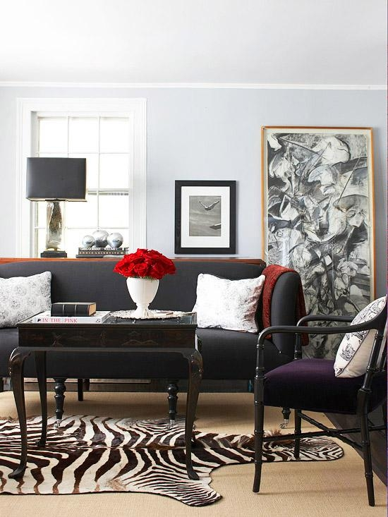 Decorating With A Black Sofa Regarding Black Sofas For Living Room (Image 13 of 20)