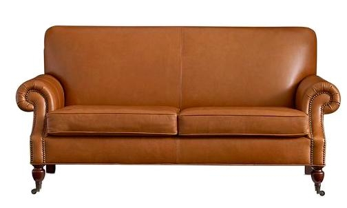 Decorating With Leather {The New Sofa} – The Inspired Room Regarding Camel Colored Leather Sofas (Image 15 of 20)