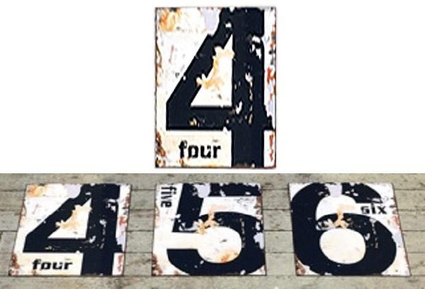 Decorating With Numbers | Vintage Style Numbers | Number Wall Art In Large Vintage Wall Art (Image 8 of 20)