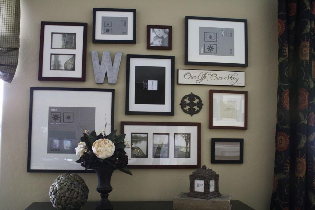 Decorations : Adorable Photo Frame And Mirror Collage Design With Mirrored Frame Wall Art (Image 9 of 20)