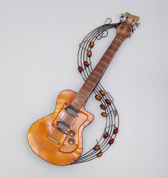 Decorative Metal Craft Picture – More Detailed Picture About Metal Regarding Guitar Metal Wall Art (Image 4 of 20)