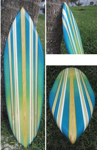 Decorative Surfboard Surf Art Blue Crush Inside Decorative Surfboard Wall Art (Photo 14 of 20)