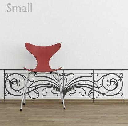 Decorative Wall Sticker – Art Nouveau Balustrade – Paristic For Art Nouveau Wall Decals (View 2 of 20)