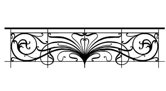 Decorative Wall Sticker – Art Nouveau Balustrade – Paristic Intended For Art Nouveau Wall Decals (View 3 of 20)