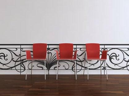 Decorative Wall Sticker – Art Nouveau Balustrade – Paristic Within Art Nouveau Wall Decals (View 11 of 20)