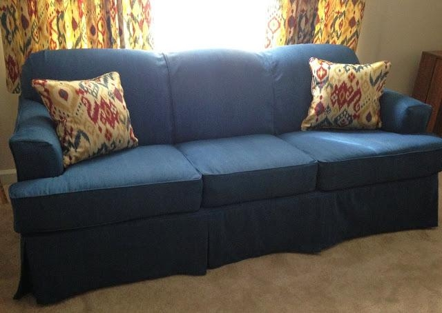 Denim Slipcovers For Denim Sofa Slipcovers (View 9 of 20)