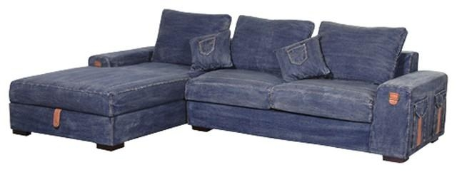 Denim Sofa Covers – Sofa A For Denim Sofa Slipcovers (Image 7 of 20)