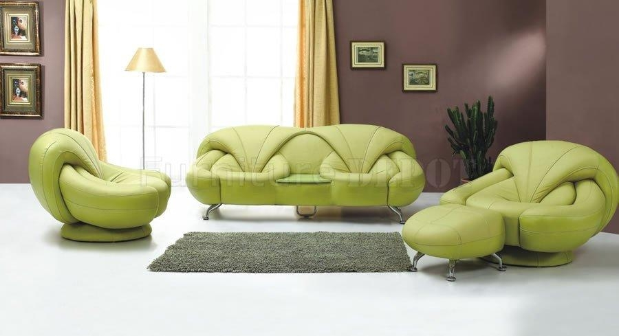 Design Of Green Leather Sectional Sofa Elite Sectional Upholstered In Green Leather Sectional Sofas (Image 10 of 20)