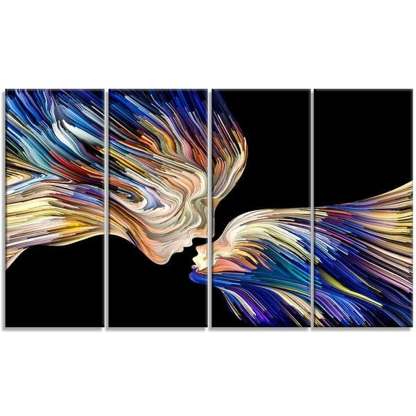 Designart 'metaphorical Mind Painting' Sensual Metal Wall Art Inside Sensual Wall Art (Image 9 of 20)