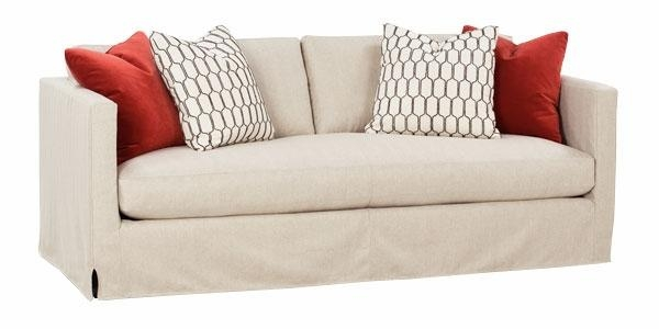 "Designer Style"" Bench Seat Slipcover Sofa With Bench Style Sofas (Image 9 of 20)"