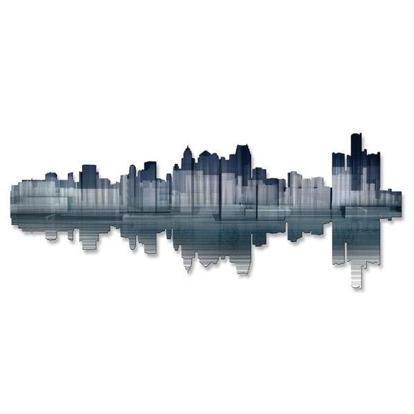 Detroit Reflection' Ash Carl Metal Wall Art – Free Shipping Today With Ash Carl Metal Art (Image 17 of 20)