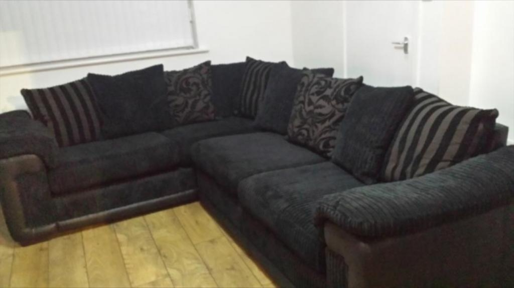 Dfs Black Corner Sofa | In Sevenoaks, Kent | Gumtree Throughout Black Corner Sofas (View 2 of 20)