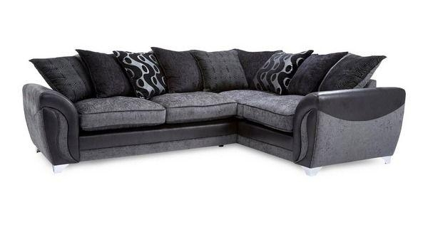 Dfs Corner Sofa Black & Grey | In Sheffield, South Yorkshire | Gumtree For Black Corner Sofas (View 12 of 20)