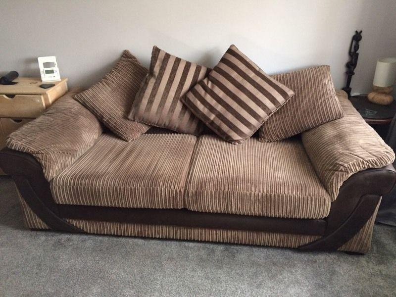 Dfs Destiny Large 4 Seater Sofa Brown Corduroy Excellent Condition Regarding Brown Corduroy Sofas (Image 5 of 20)