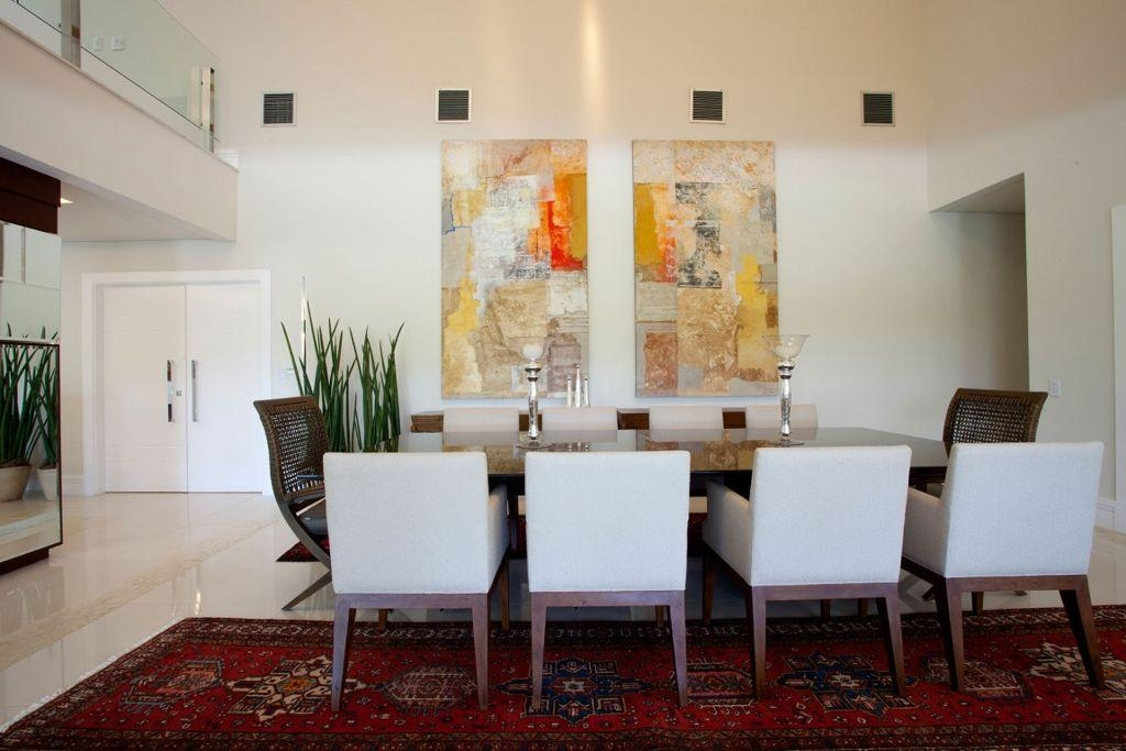 Dining Room : Remarkable Modern Dining Room With Wooden Floor Also Regarding Modern Wall Art For Dining Room (Image 11 of 20)