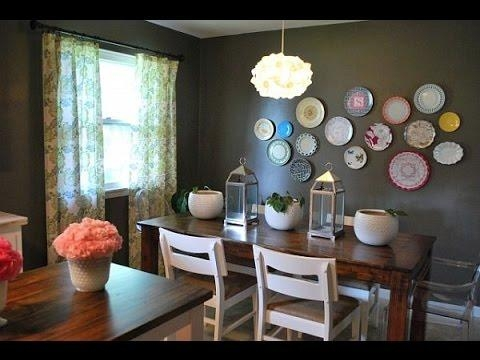 Dining Room Wall Decor~Dining Room Wall Art Ideas – Youtube Intended For Dining Area Wall Art (View 6 of 20)