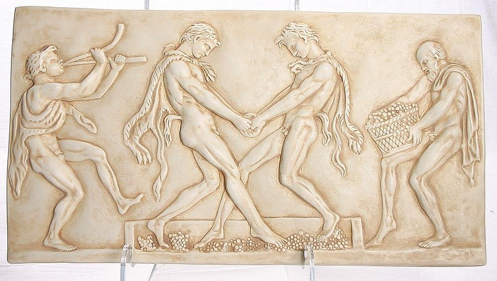 Dionysos, Fauns, Wine Festival, Greek Wall Hanging, Louvre Museum With Regard To Ancient Greek Wall Art (Image 12 of 20)