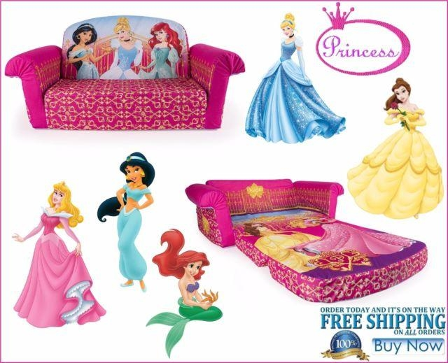 Disney Princess Flip Open Sofa Rapunzel Belle Cinderella | Ebay Pertaining To Princess Flip Open Sofas (View 9 of 20)