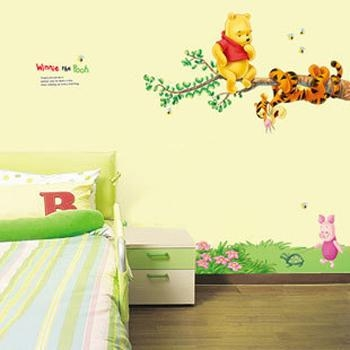 Disney Winnie Pooh Tree Home Wall Mural Window Decals Stickers Pertaining To Winnie The Pooh Wall Art (View 3 of 20)