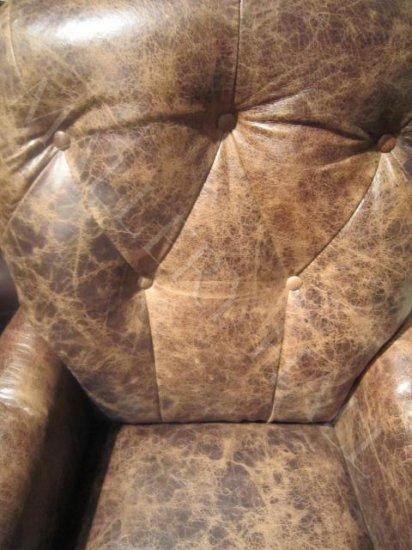 Distressed Brown Leather Bomber Jacket Style Office Chair Inside Bomber Leather Sofas (Image 5 of 20)
