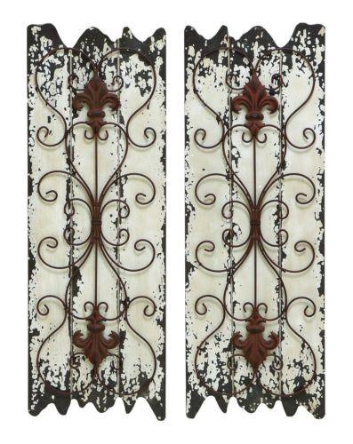 Distressed White Metal Wall Art – Distressed Antiquelook White Inside Country Metal Wall Art (View 18 of 20)