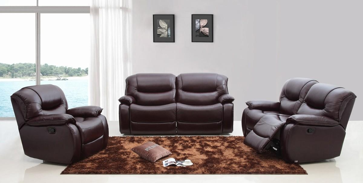 Divani Casa E9023 Modern Brown Italian Leather Sofa Set W With Italian Recliner Sofas (View 18 of 20)