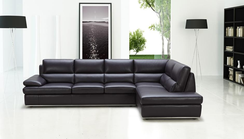 Featured Image of Black Leather Chaise Sofas